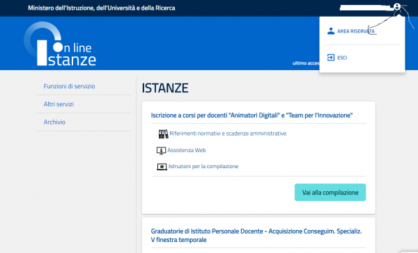 NotizieScuola.it - Istanze Online - Menù