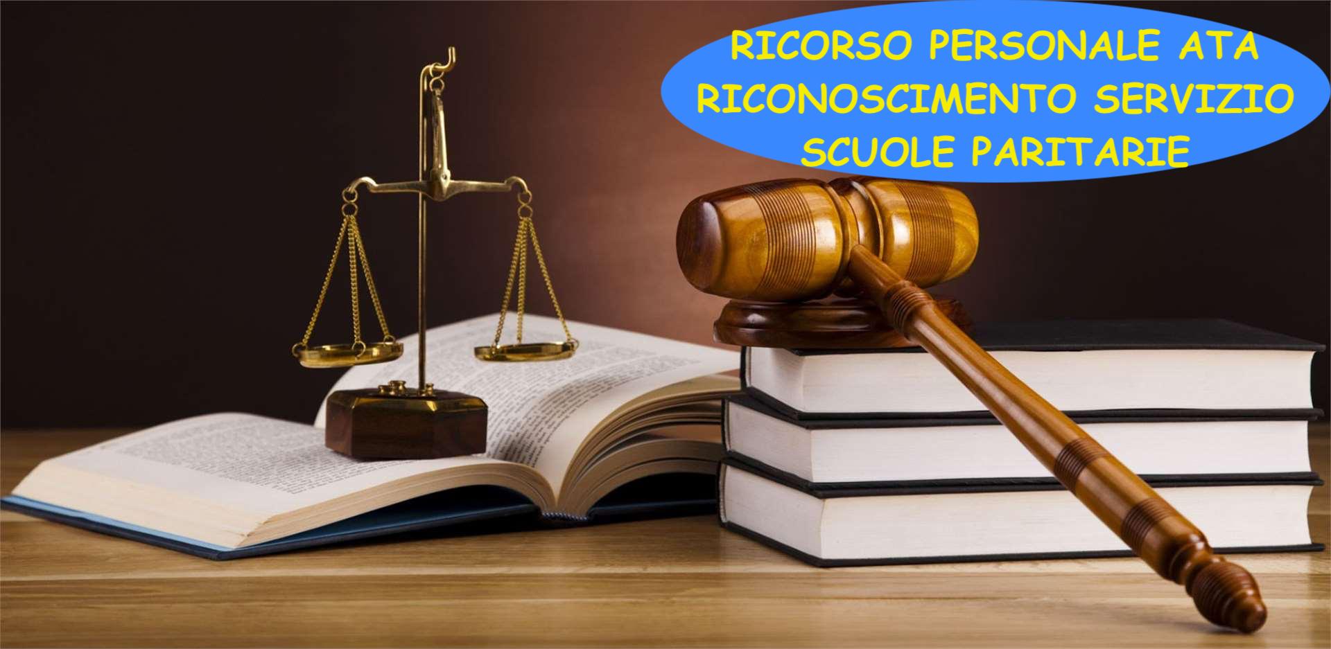 RICORSO ATA PER IL RICONOSCIMENTO  SERVIZIO SCUOLE PARITARIE. SCADENZA ADESIONI 15 MAGGIO.