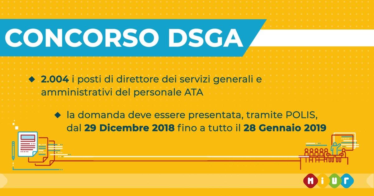 Scuola, ecco il bando di concorso per Direttori dei Servizi Generali e Amministrativi (DSGA)