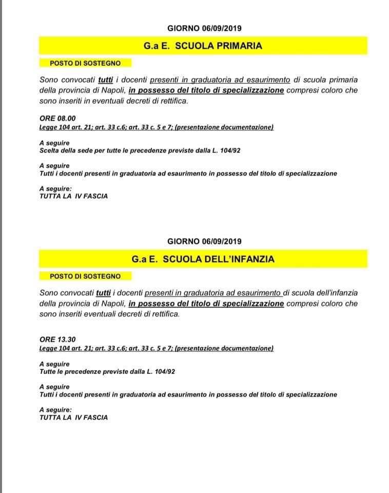 Calendario Del Tempo Scuola Infanzia.At Napoli Calendario Tempo Determinato Infanzia E Primaria