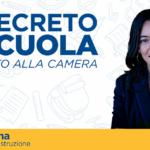 AZZOLINA: La Camera ha approvato il decreto scuola!